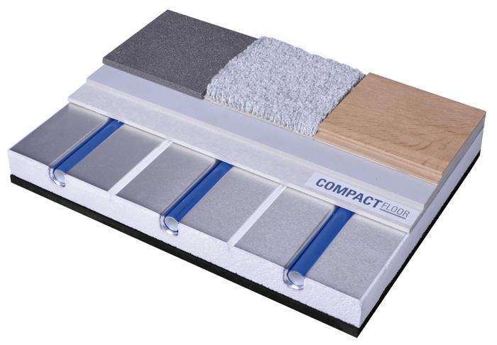 Schichtaufbau CompactFloor PRO mit Fußbodenheizung
