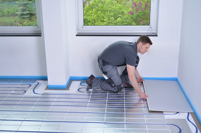 Montage CompactFloor auf Fußbodenheizung